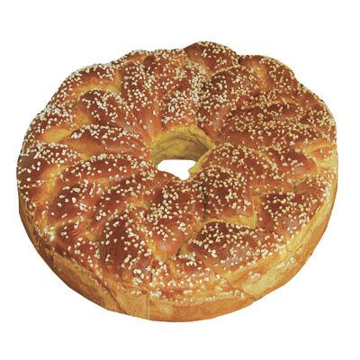 Brioche ronde decor sucre grain 4kg (Nobrand)