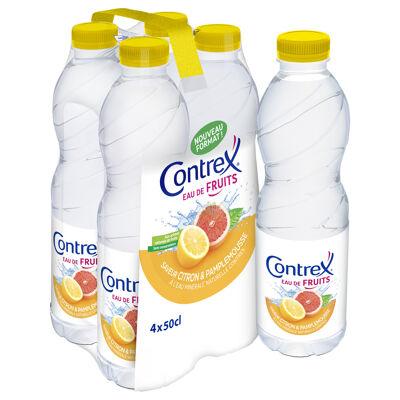 Contrex eau de fruits boisson aromatisée citron/pamplemousse à base d'eau minérale naturelle contrex 4 x 50cl (Contrex)
