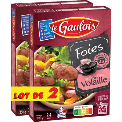 Le gaulois lot de 2 foies de volaille confit 600g (Le gaulois)