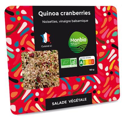 Salade quinoa et cranberries bio 160g (Monbio)
