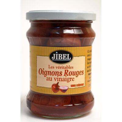 Oignons rouges au vinaigre 450g (Jibel)