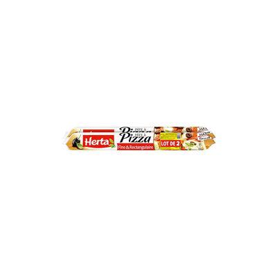Herta pâte à pizza fine et rectangulaire lot 2 gratuit (Herta)