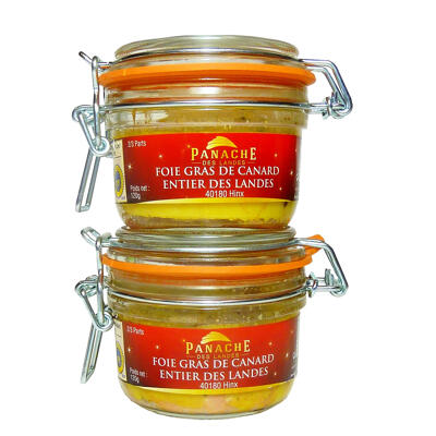 Foie gras de canard igp sud ouest bocal 120 g - lot de 2 (Panache des landes)