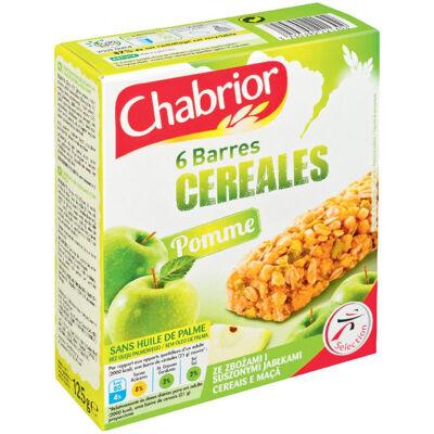 6 barres céréalières à la pomme (Chabrior)