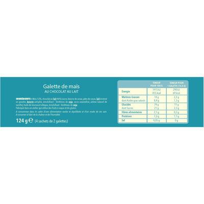 Galette mais chocolat lait 124 g (Gerblé)