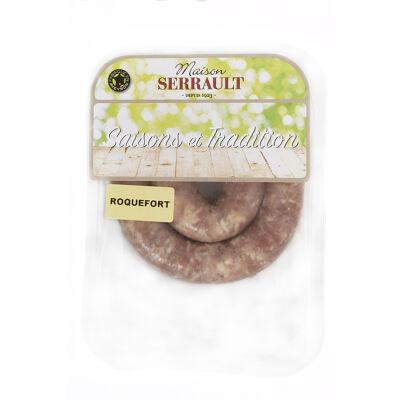 Saucisse fraîche de porc au roquefort (Maison serrault)