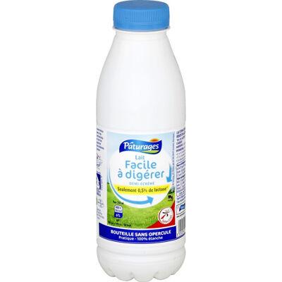 Lait stérilisé uht à 12g/l de matières grasses à faible teneur en lactose et enrichi en vitamine d (Paturages)