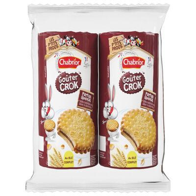 15 biscuits avec fourrage (33%) parfum chocolat (Chabrior)