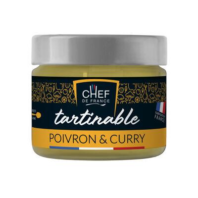 Tartinable poivron & curry 100g (Chef de france)