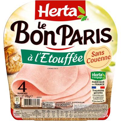 Herta le bon paris jambon à l'étouffée sans couenne x4 - 170g (Herta)