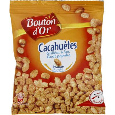 Cacahuètes grillées à sec goût paprika (Bouton d'or)