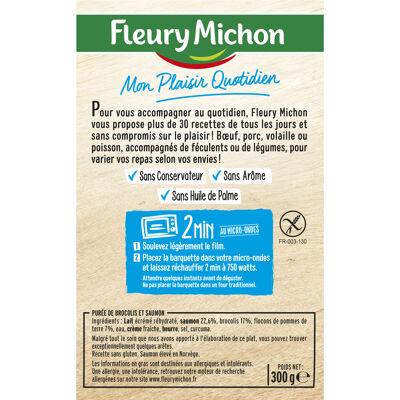 Lot 2 le 2ème à -60% (filet de saumon, purée aux brocolis) spp (Fleury michon)