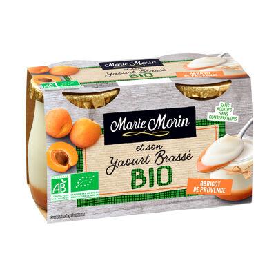 Yaourts brassés bio abricot de provence 2x140g (Marie morin)