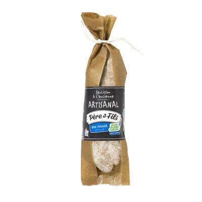 Saucisson sec artisanal bleu blanc coeur 250g (Pere 3 fils)