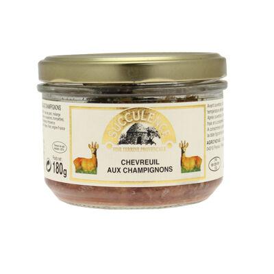 Terrine de chevreuil aux champignons 180g (Succulence)
