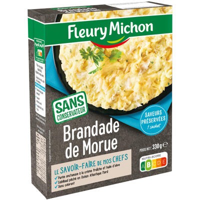 Brandade de morue à la crème fraîche (Fleury michon)