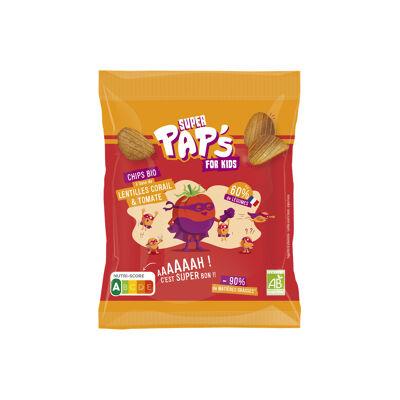 Chips bio à base de lentilles corail & tomate (Super pap's)