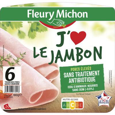 6 tr. fines jambon superieur s.c. - filière française d'eleveurs engagés (Fleury michon)
