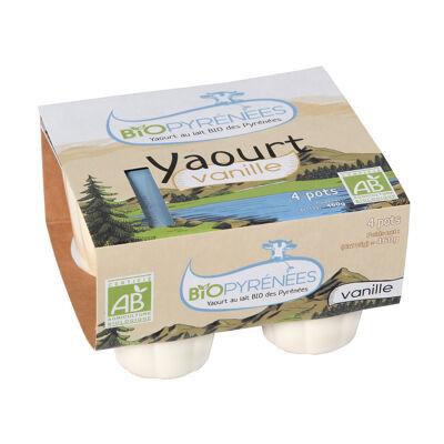 Yaourt biopyrénées vanille (Nobrand)