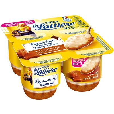 La laitiere riz au lait sur lit de caramel beurre sale 4x115g (La laitiere)