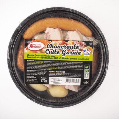 Choucroute garnie cuite jla 2 personnes (Jean louis amiotte)