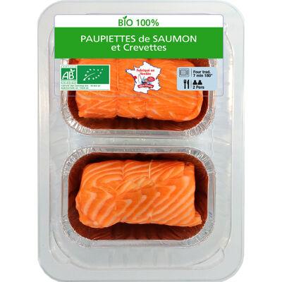 Paupiette de saumon et crevettes bio (Le marin vendéen)