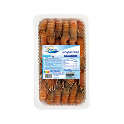 Langoustines entières crues surgelées (Odyssee)