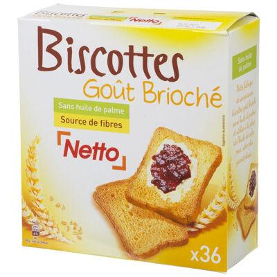 Biscottes goût brioché x36 - 300 g (Netto)