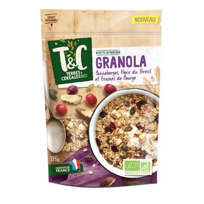 Granola canneberges noix du bresil courges 375 g tc ab* (Terres et céréales)