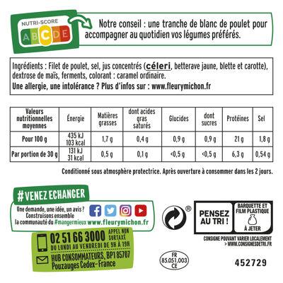 8 tr. fines blanc de poulet - halal (Fleury michon)
