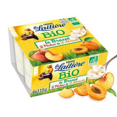 La laitiere brasse fruits jaunes bio 4x110g* (La laitiere)