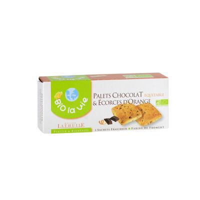 Palets chocolat & écorces d'orange 125 gr (Bio la vie)