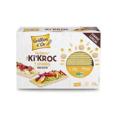 Tartines ki'kroc 3 céréales sans gluten 270g go ab* (Grillon d'or)