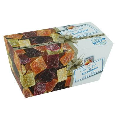 Ballotin de pates de fruit exotiques - boite 300g (Les recettes cuites au chaudron)