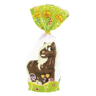 Poney chocolat au lait decore - 220 grs (Rohan)
