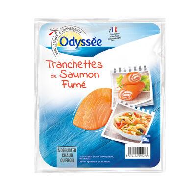 Tranchettes de saumon atlantique fumé décongelées (Odyssee)