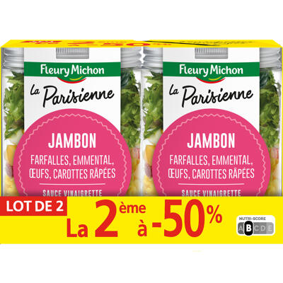 Lot 2 le 2ème à -50% (salad jar - la parisienne) (Fleury michon)