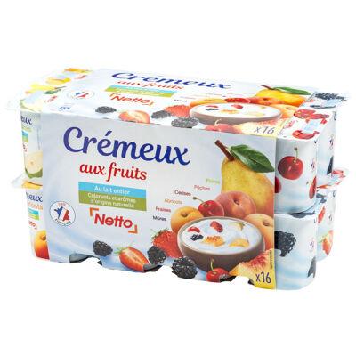 Yaourts cremeux aux fruits (Netto)