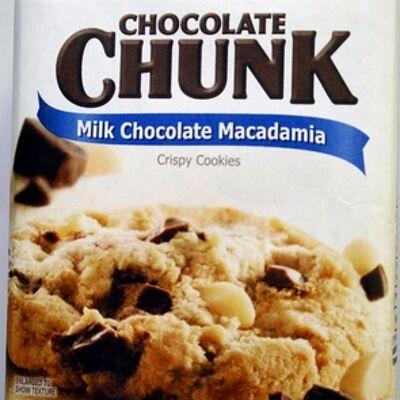 Chocolate chunk milk chocolate macadamia crispy cookies (Chocolate chunk)