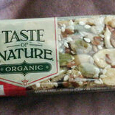 Nature cranberry organic fruit & nut bar (Taste of nature)