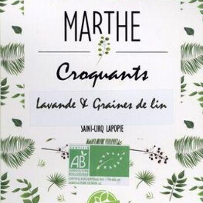 Croquants, lavande & graines de lin (Marthe)