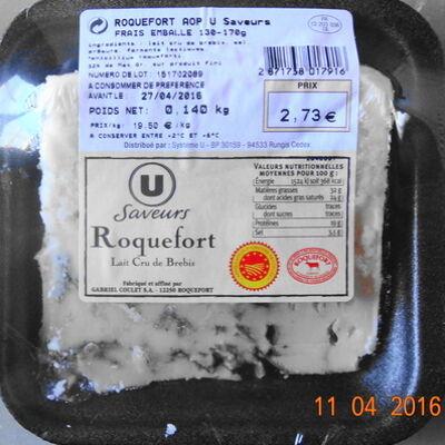Roquefort, lait cru de brebis (U saveurs)