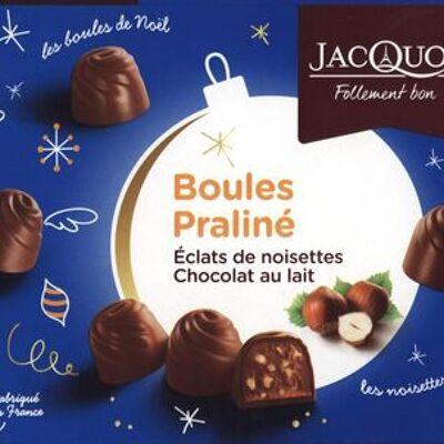 Boules praliné éclats de noisettes chocolat au lait (Jacquot)