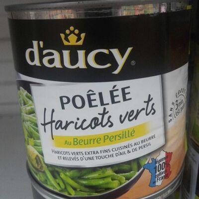 Poêlée haricots verts au beurre persillé (D'aucy)
