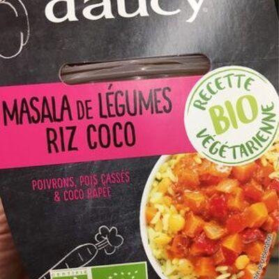 Masala de légumes riz coco (D'aucy)