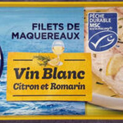 Filets de maquereaux vin blanc citron et romarin (Petit navire)