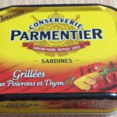 Sardines grillées aux poivrons et thym (Parmentier)