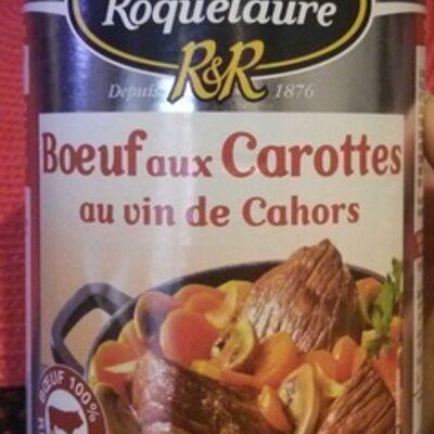 Bœuf aux carottes cuisiné au vin de cahors (Raynal et roquelaure)