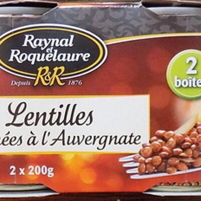 Lentilles cuisinées à l'auvergnate (Raynal et roquelaure)