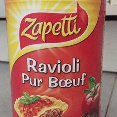 Ravioli pur bœuf sauce tomate cuisinée (Zapetti)